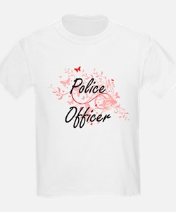 Police Officer Artistic Job Design with Bu T-Shirt