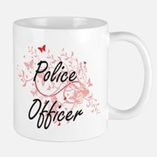 Police Officer Artistic Job Design with Butte Mugs