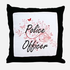 Police Officer Artistic Job Design wi Throw Pillow