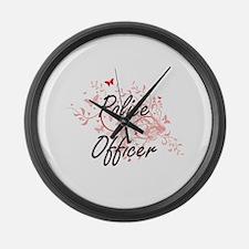 Police Officer Artistic Job Desig Large Wall Clock