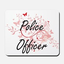 Police Officer Artistic Job Design with Mousepad