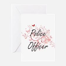 Police Officer Artistic Job Design Greeting Cards
