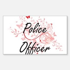 Police Officer Artistic Job Design with Bu Decal