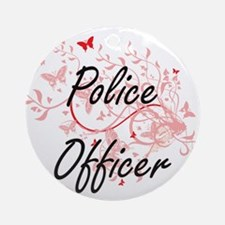 Police Officer Artistic Job Design Round Ornament