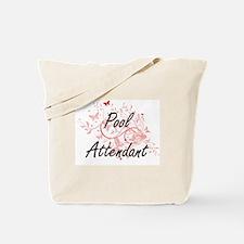 Pool Attendant Artistic Job Design with B Tote Bag