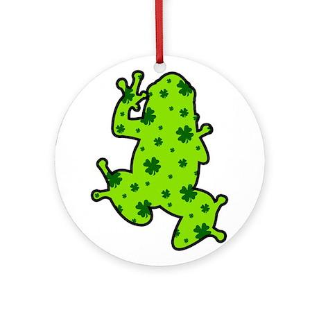 Shamrock Frog Ornament (Round)