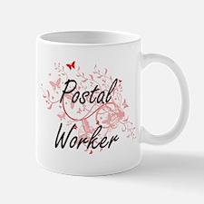 Postal Worker Artistic Job Design with Butter Mugs