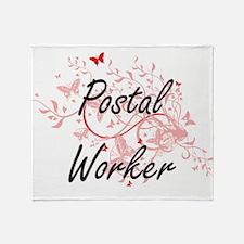 Postal Worker Artistic Job Design wi Throw Blanket
