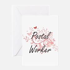 Postal Worker Artistic Job Design w Greeting Cards