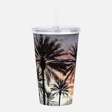 Sunrise Palms Acrylic Double-wall Tumbler
