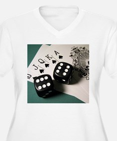 Cards And Dice Plus Size T-Shirt