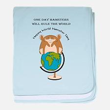 Hamsters rule the World baby blanket