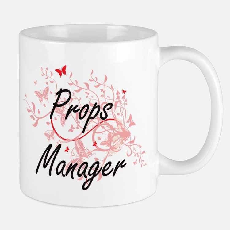 Props Manager Artistic Job Design with Butter Mugs