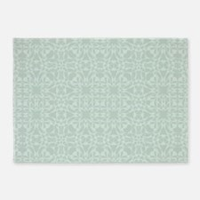 Cute Mint Vintage 5'x7'Area Rug
