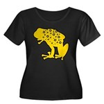 Yellow Spotted Frog Women's Plus Size Scoop Neck D