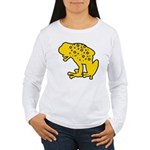 Yellow Spotted Frog Women's Long Sleeve T-Shirt