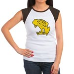 Yellow Spotted Frog Women's Cap Sleeve T-Shirt
