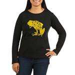 Yellow Spotted Frog Women's Long Sleeve Dark T-Shi