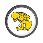 Yellow Spotted Frog Wall Clock