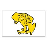 Yellow Spotted Frog Rectangle Sticker