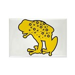Yellow Spotted Frog Rectangle Magnet (10 pack)