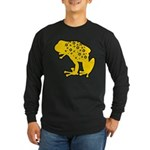 Yellow Spotted Frog Long Sleeve Dark T-Shirt