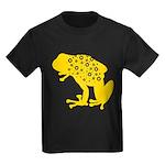 Yellow Spotted Frog Kids Dark T-Shirt