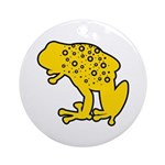 Yellow Spotted Frog Ornament (Round)