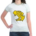 Yellow Spotted Frog Jr. Ringer T-Shirt