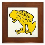 Yellow Spotted Frog Framed Tile