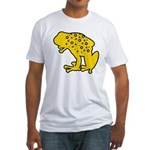 Yellow Spotted Frog Fitted T-Shirt