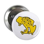 """Yellow Spotted Frog 2.25"""" Button (10 pack)"""