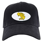 Yellow Spotted Frog Black Cap