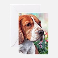 Beagle Painting Greeting Cards