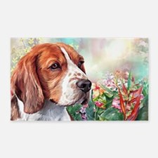 Beagle Painting Area Rug