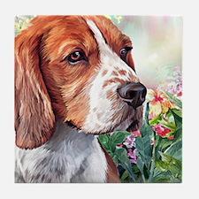 Beagle Painting Tile Coaster