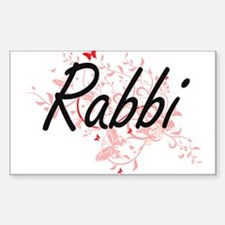 Rabbi Artistic Job Design with Butterflies Decal