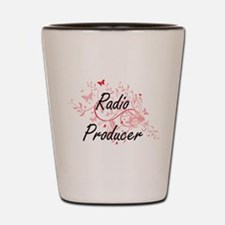 Radio Producer Artistic Job Design with Shot Glass