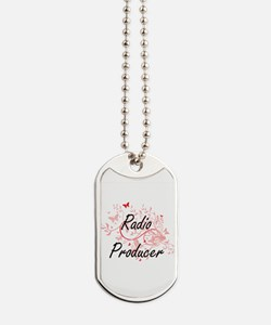 Radio Producer Artistic Job Design with B Dog Tags