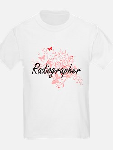 Radiographer Artistic Job Design with Butt T-Shirt
