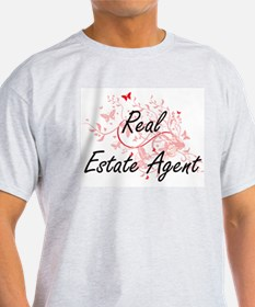 Real Estate Agent Artistic Job Design with T-Shirt