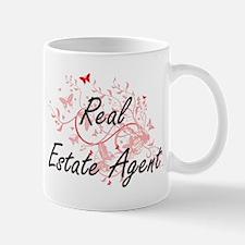 Real Estate Agent Artistic Job Design with Bu Mugs