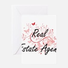 Real Estate Agent Artistic Job Desi Greeting Cards