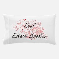 Real Estate Broker Artistic Job Design Pillow Case