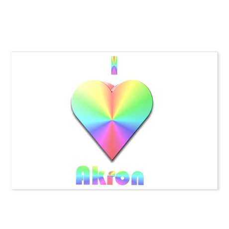 I Love Akron #1 Postcards (Package of 8)