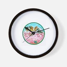 Papillon Phalene Wall Clock