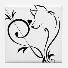 Husky Music Heart Tile Coaster