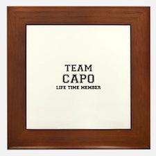 Team CAPO, life time member Framed Tile
