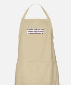 Know It All BBQ Apron