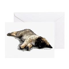 Laying Puppy Greeting Cards (Pk of 10)